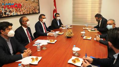 Photo of DİSİ Başkanı Neofitu'nun CTP ve HP'yi ziyareti Rum basınında