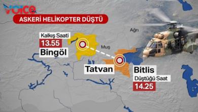Photo of Askeri helikopter düştü… Kolordu Komutanı'nın da aralarında olduğu 10 asker şehit oldu